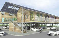 Parking Lot-Adjacent Dwellings - The 'ZEDpod' is a Low-Carbon Building Design that's Affordable