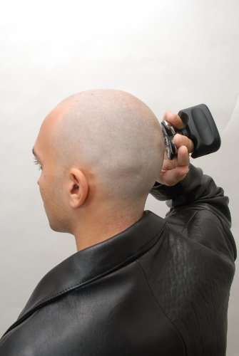 Handheld Cordless Shavers - The Skull Shaver is a Handleless Electric Shaver for the Head and Face