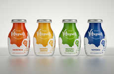 Cloud-Inspired Yogurt Packaging - Vitagurt is Geared Towards Health-Conscious Moms and Families