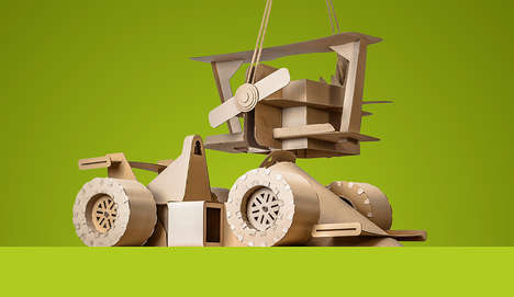 DIY Cardboard Toys - MacoshDesign Created Downloadable Templates to Make Eco-Friendly Toys