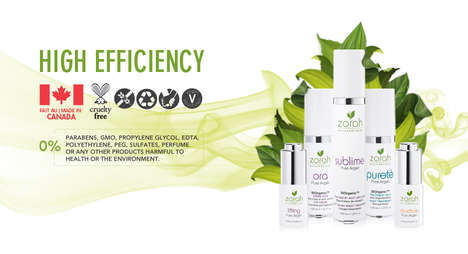 Environmentally-Conscious Beauty Products - Zorah biocosmétiques Give a Younger Look Ecologically