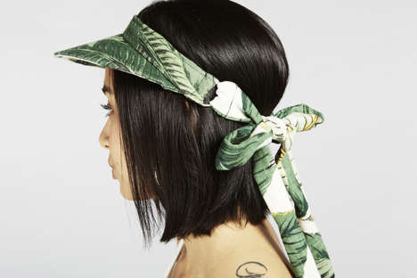 Leafy Lace-Up Visors - The 90210 Mita Visor Combines Sporty and Casual Fashion With a Feminine Bow