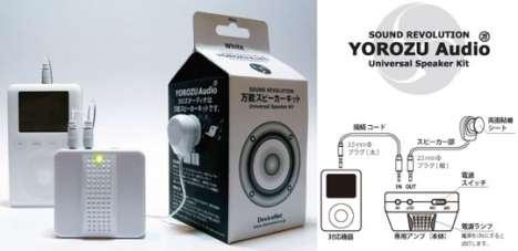 Adhesive iPod Speakers