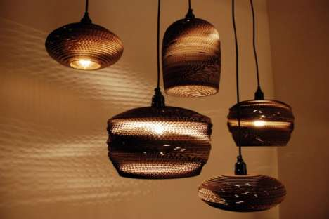 Corrugated 'Scrap Lights' Are A Very Bright Idea