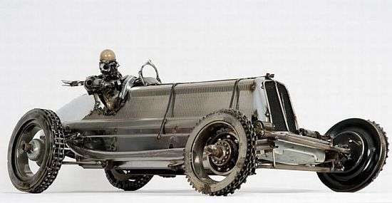 Retro Art From Old Car Parts Remanufactured Sculptures For Gearheads