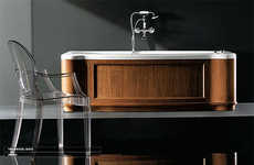 Skirted Bathtubs - Gruppo Treesse's Elegant 'New Classic' Tubs Are Stunning