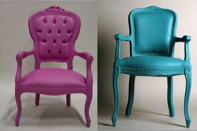 Vibrant Faux Leather Furniture - Classic Seating in Wild Colors