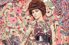 Busy Fabric Beautiful - 'Vogue Patterns' by Steven Meisel Look Like an Illusion