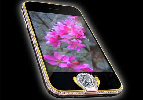 $2.5 Million iPhones - Aloisson's Latest Stunner Features 6.6-Carat Diamond Home Button