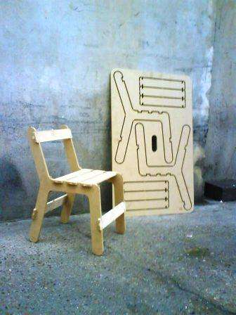 Plywood Cut-Out Chairs