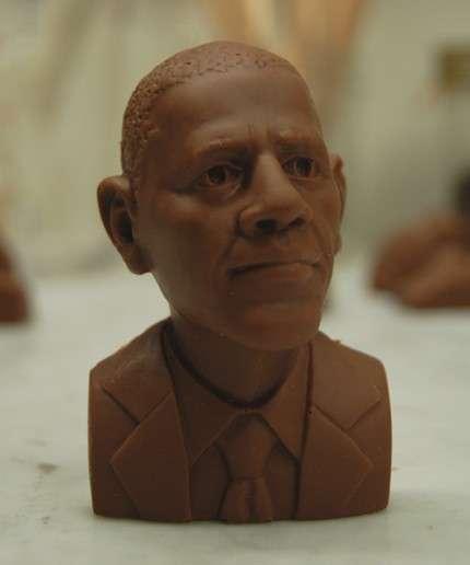 Obama Shaped Chocolate