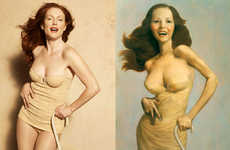 Recreating Famous Paintings With Photography - Julianne Moore by Peter Lindbergh for Harper's