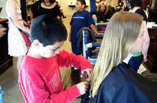 Infant Hair Stylists - Social Hairdressing Projects Let Children Cut Your Locks