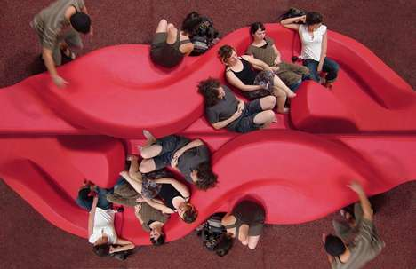 Interactive Public Seating - Modular D & A Seating is Inviting and Fun