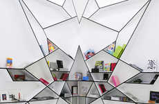 Spider Web Bookcases - Graphic Bookshelf Designed For Art Basel Miami Show