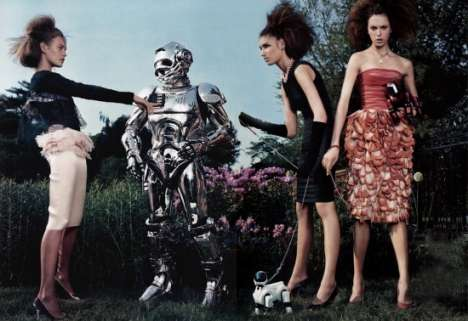 Futurism Meets Posh Couture in Vogue Italy