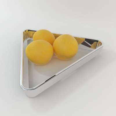 Billiard-Inspired Fruit Bowls