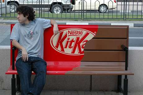 Benchvertizing - Have a Break, Have a Seat  on a Kitkat Bar