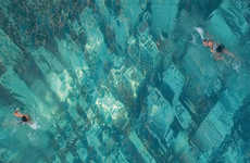 Swimming Over Skylines - Underwater Billboard Lets You Float Above NYC