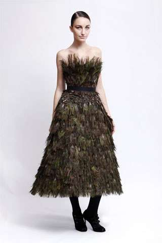 Peacock-Inspired Dresses - Feathery, Graceful Gowns for Pre-Fall '09