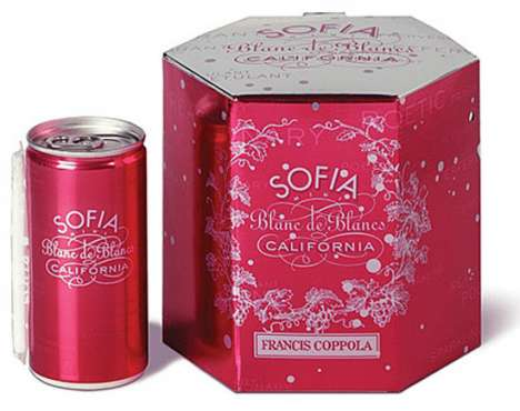 Single-Serving Wine in a Can - Francis Ford Coppola Presents Sofia Minis With a Straw