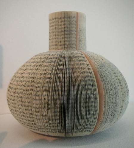 Vases Made From Recycled Books