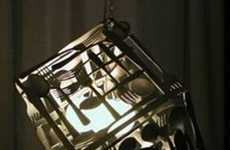 Artsy Cutlery Cubes - Recycled Flatware Lighting and Other Shades of Invention