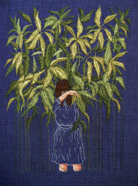 Embroidered Psychological Landscapes