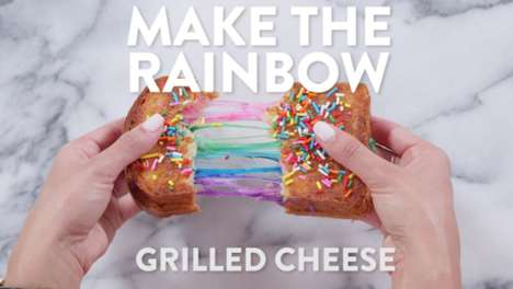 Rainbow Grilled Cheese Sandwiches