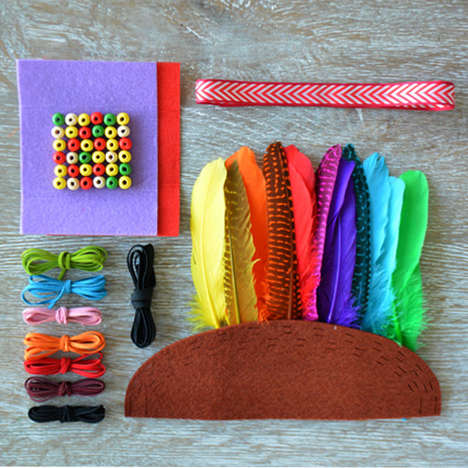 Kid-Friendly Festival Accessories - This Feather Crown Kit Helps Kids Make a Concert-Ready Accessory