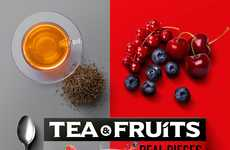 Boldly Healthy Packaging - The Vibrant Tea & Fruits Branding Informs Real Fruits are Used
