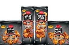 Spicy Poultry Protein Snacks - The Ginsters Meat Club Snacks Come in Tandoori and BBQ Flavor Options