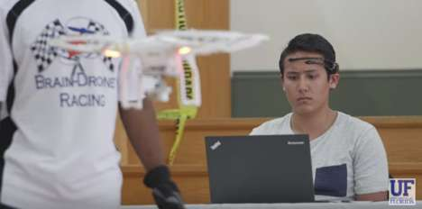 Brain-Controlled Drone Races