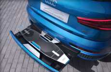 Dual Transportation Auto Concepts - The Audi Connected Mobility Comes with an Electric Longboard