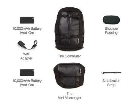 Modular Device-Charging Bags - This Modular Bag Helps You Keep All Your Electronic Devices Charged