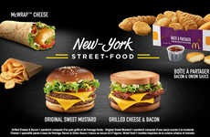 New York-Themed Menus - The New McDonald's France Menu Features New York City Street Foods