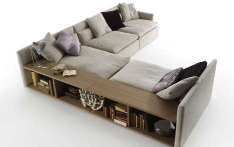 Bookcase-Embedded Sofas