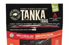 Two-In-One Protein Snacks - This Tanka Trail Mix Snack is Combined with Turkey and Buffalo Jerky
