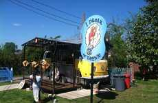 Converted Bus Food Stands - Nashville's I Dream of Weenie Serves Hot Dogs in a Yellow VW Bus