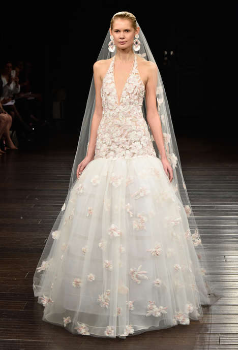 Modern Indian Bridal Gowns - The Naeem Khan Bridal Spring Line Touches on the Designer's Homeland