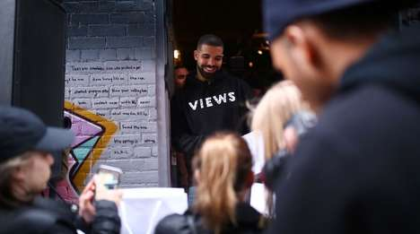 Impromptu Rapper Pop-Ups - Drake's Views Pop-Up Promoted the Rapper's Newest Album Release