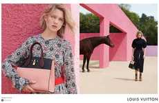Pink-Walled Fashion Ads - The Louis Vuitton Lea Seydoux Campaign is Shot in Colorful Mexico