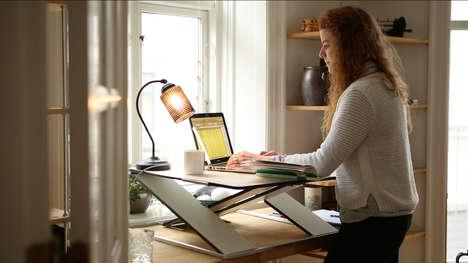 Compact Height-Adjustable Desks