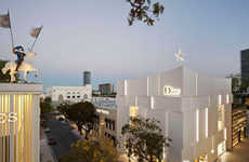 Cut-Out Shop Facades - The Dior Store in Miami Opts for Segmented Panelling For Ambient Lighting