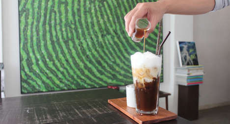 Coffee Jelly Drinks - The TINI Cafe + Bar Turns a Popular Japanese Dessert into a Beverage