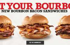 Boozy Bourbon Sandwiches - Thew New Bourbon Bacon Sandwiches are Infused with Barrel-Aged Whiskey