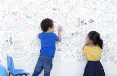 Oversized Coloring Canvases - Perfectly Smitten's Giant Coloring Book Page is Ideal for Classrooms