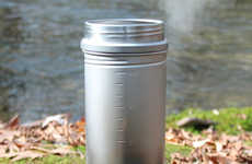 Hybrid Hydration Camp Cookers - The Vargo 'BOT' Titanium Bottle Pot is for Drinking and Cooking