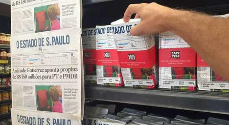 Newspaper Coffee Packaging