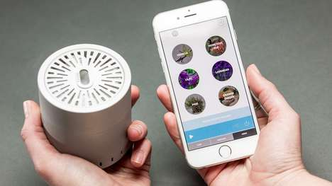 Digital Scent Platforms - Cyrano is a Scent Speaker That Plays Smells Like a Musical Playlist